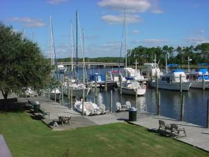 Manteo waterfront and boats